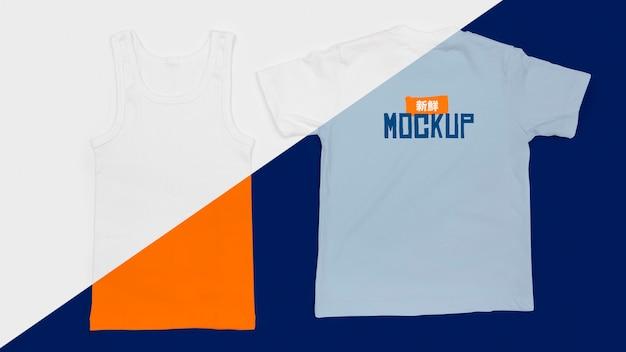 Widok Z Góry Makiety Koncepcji T-shirt Darmowe Psd