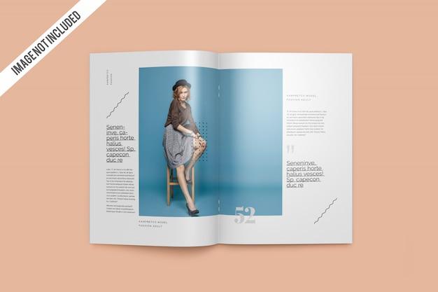 Widok z góry otwarty magazyn Premium Psd