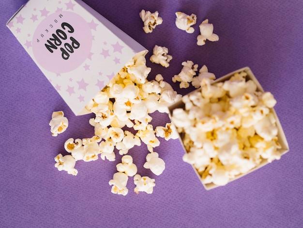 Widok Z Góry Popcornu Kina Darmowe Psd