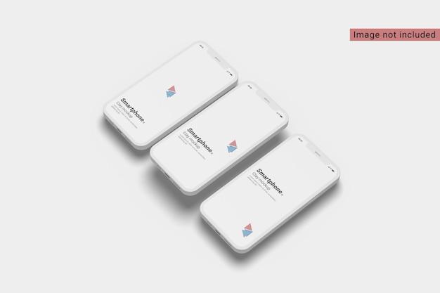 Widok Z Prawej Strony Makiety Smartfona Z Gliny Premium Psd