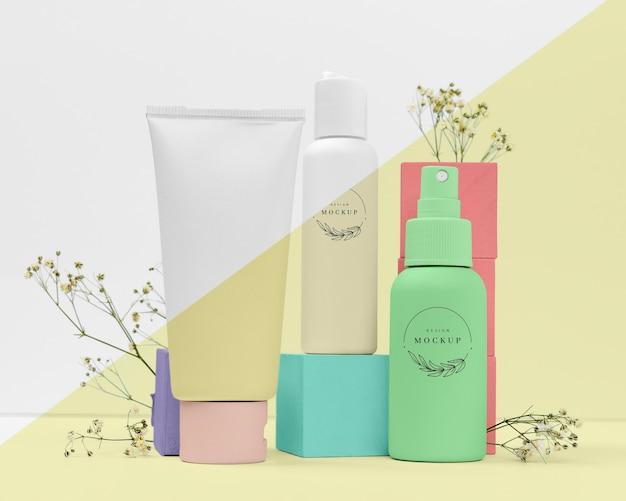 Widok Z Przodu Kolekcji Kosmetyków Darmowe Psd