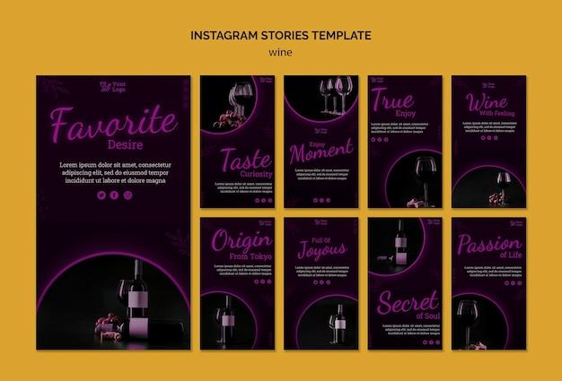 Wino Promocyjne Historie Na Instagramie Darmowe Psd