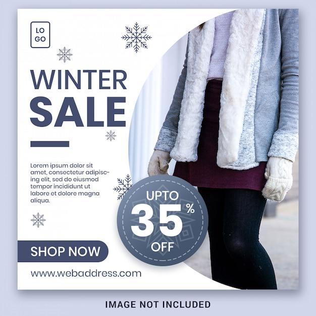 Winter Sale Banner Social Media Post Premium Psd