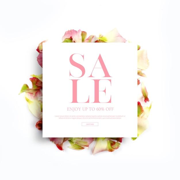 Wiosna banery i ramki, szablon z pięknymi kwiatami, tło zaproszenie Premium Psd