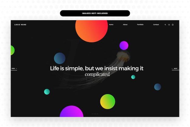 Witryna Life Is Simple Premium Psd