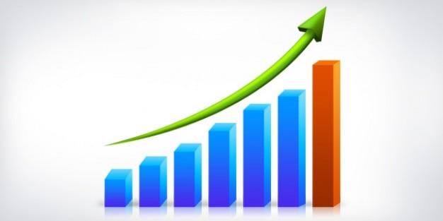 Wykres wzrostu biznesu psd Darmowe Psd