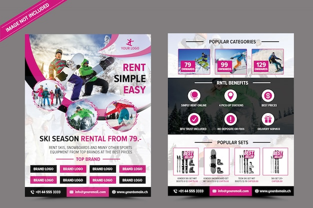 Wypożyczalnia Nart Premium Psd