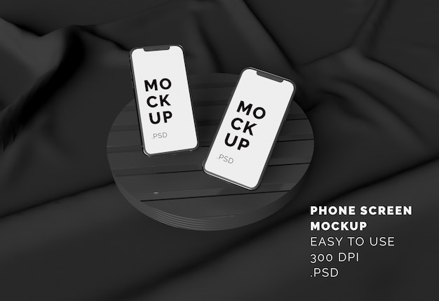 Wyświetlacz Telefonu Makieta Premium Psd