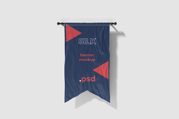 Wytnij Makieta Flagi Z Jedwabiu Premium Psd