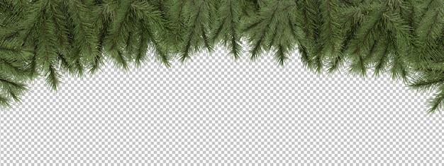Wytnij sosnowe gałęzie Premium Psd