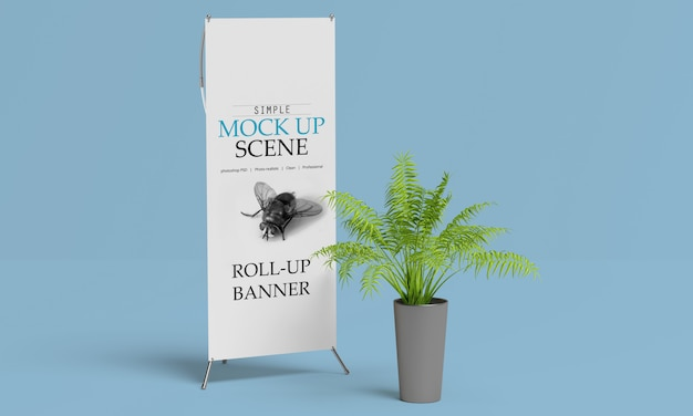 X-banner lub roll up stand mockup Premium Psd