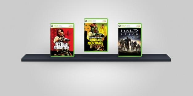 Xbox karty 360 gry psd Darmowe Psd