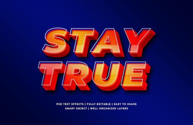 Zachowaj Prawdziwy Efekt Stylu Tekstu 3d Premium Psd