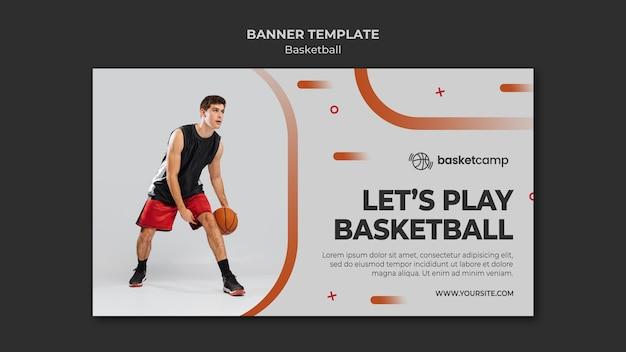 Zagrajmy W Szablon Transparentu Koszykówki Darmowe Psd