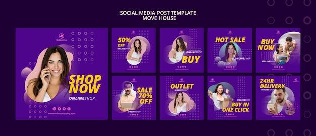 Zakupy Online W Mediach Społecznościowych Darmowe Psd