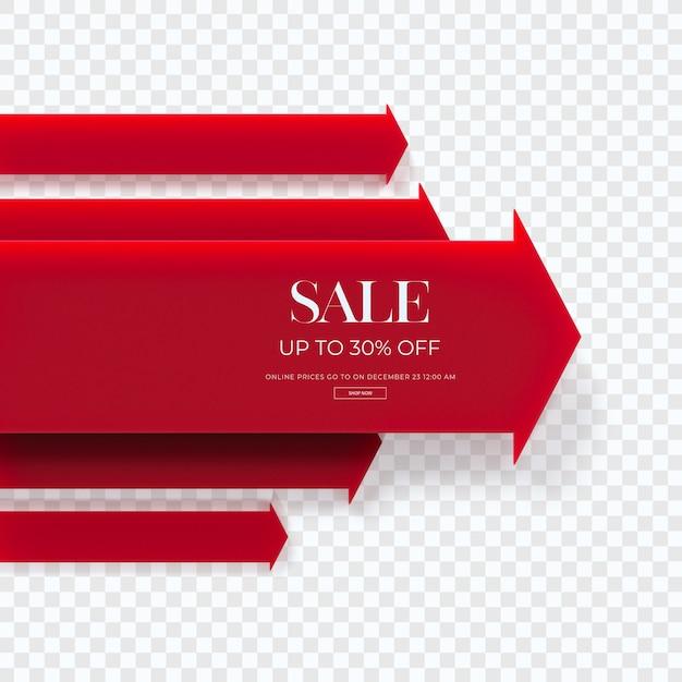 Zamknij Się Na 3d Czerwony Diagram Sprzedaży Na Białym Tle Premium Psd