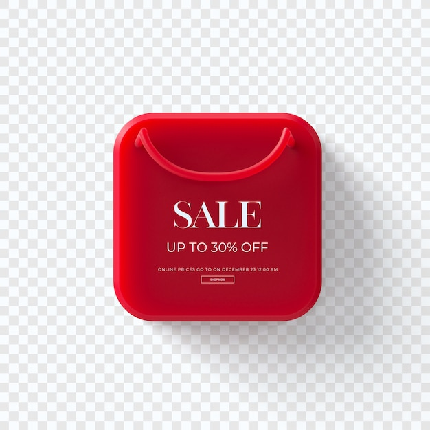 Zamknij Się Na 3d Czerwony Sprzedaż Tag Ubrania Samodzielnie Premium Psd