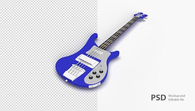 Zamknij Się Na Gitarze Na Białym Tle Premium Psd