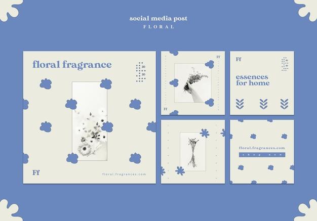 Zapach Kwiatowy Post W Mediach Społecznościowych Darmowe Psd