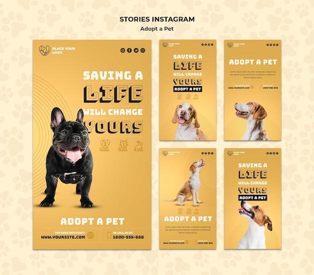 Zastosuj Szablon Opowiadań Instagramowych Dla Zwierząt Domowych Darmowe Psd