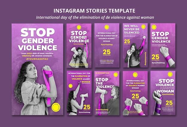 Zatrzymaj Przemoc Wobec Kobiet, Historie Z Mediów Społecznościowych Premium Psd