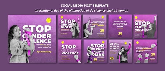 Zatrzymaj Przemoc Wobec Kobiet W Mediach Społecznościowych Premium Psd