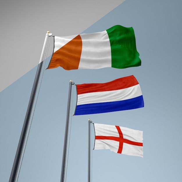 Zbiór Flag Darmowe Psd