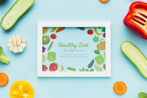 Zdrowa Dieta Ze świeżych Warzyw Darmowe Psd