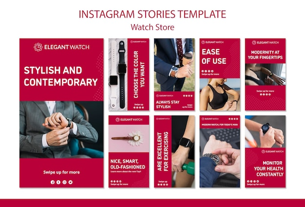 Zegarki Dla Wszystkich Stylów Opowiadań Na Instagramie Darmowe Psd