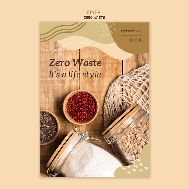 Zero Szablon Ulotki Odpadów Darmowe Psd