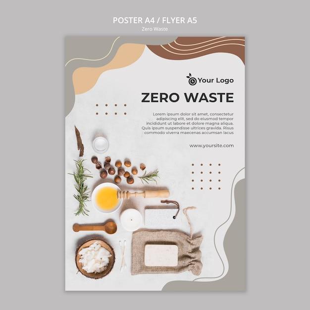Zero Ulotki Na Odpady Darmowe Psd