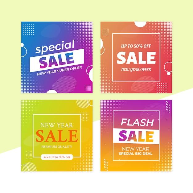 Zestaw Bannerów Sprzedażowych Premium Psd