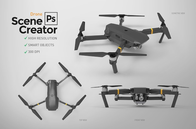 Zestaw Dronów. Premium Psd