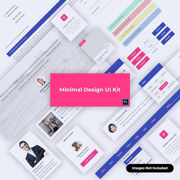 Zestaw Interfejsu Www Do Projektowania Materiałów Premium Psd