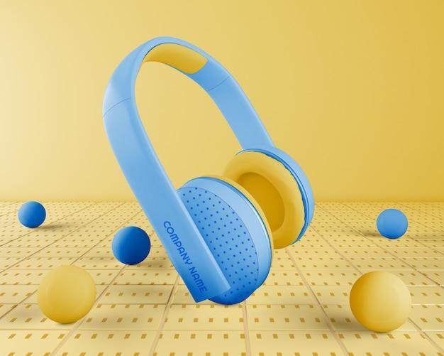 Zestaw Słuchawkowy Z Niebieskimi Słuchawkami Darmowe Psd