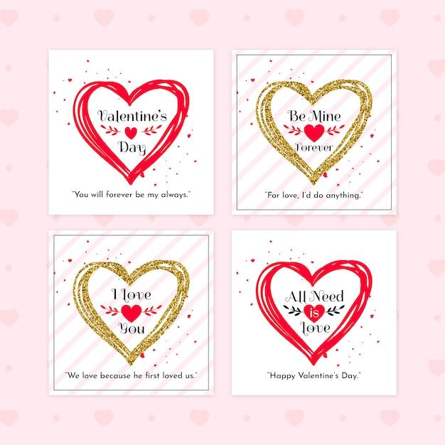 Zestaw Transparent Sprzedaż Valentine Premium Psd