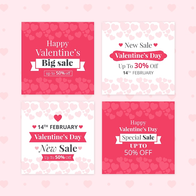 Zestaw Transparent Sprzedaż Walentynki Premium Psd