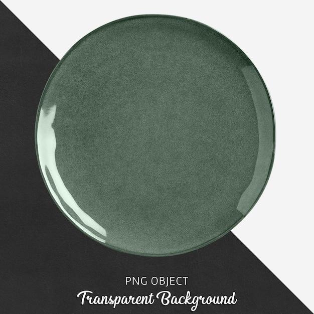 Zielona Porcelana Okrągły Talerz Na Przezroczystym Tle Premium Psd