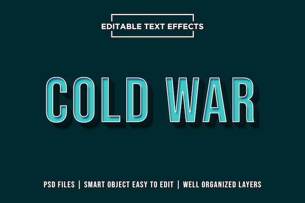 Zimna Wojna - Efekt 3d Blue Text Premium Psd Premium Psd