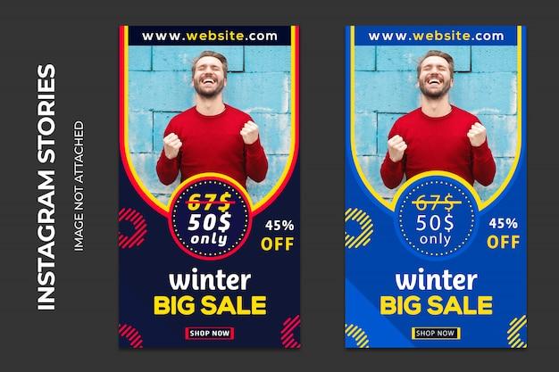 Zimowa Sprzedaż Banerów Społecznościowych Premium Premium Psd