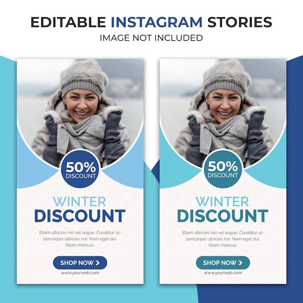 Zimowa Wyprzedaż Instagram Story Premium Psd