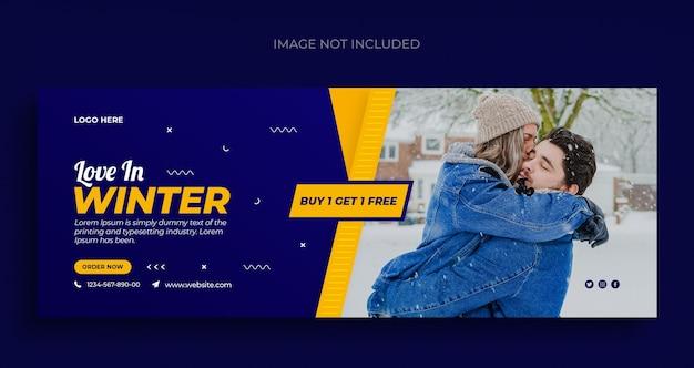 Zimowa Wyprzedaż Mody Ulotka Z Banerami Społecznościowymi I Szablon Okładki Na Facebooka Premium Psd
