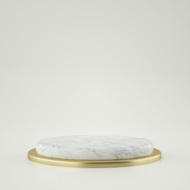 Złota I Marmurowa Scena Premium Psd