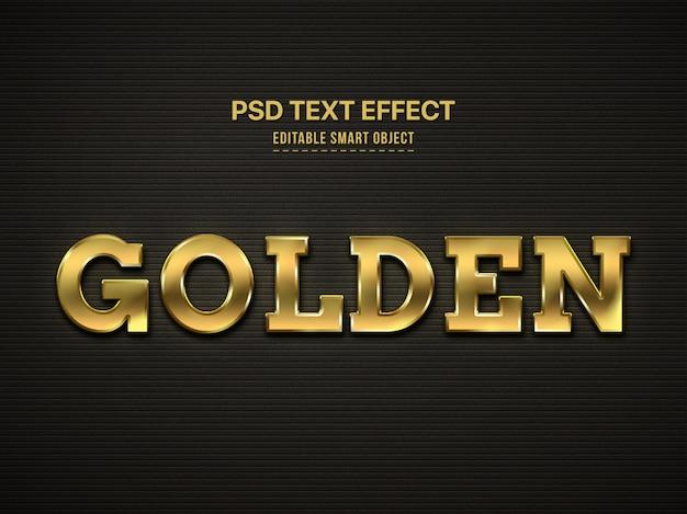 Złoty Efekt Stylu Tekstu 3d Darmowe Psd