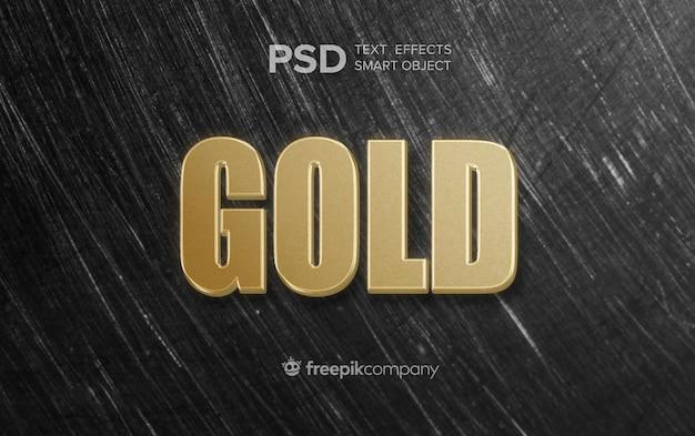 Złoty Efekt Tekstowy Na Ciemnym Tle Darmowe Psd