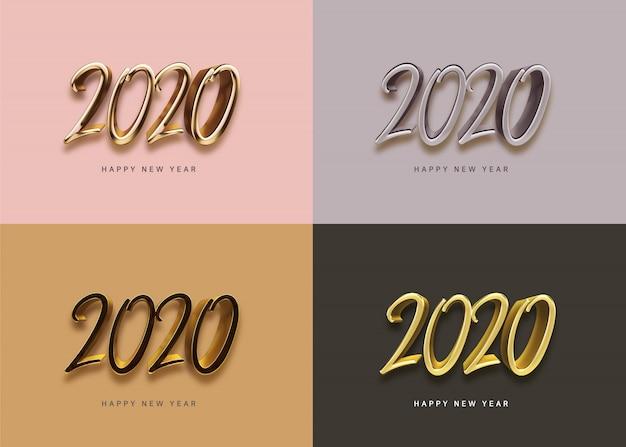 Życzenia Noworoczne Na 2020 Rok Premium Psd