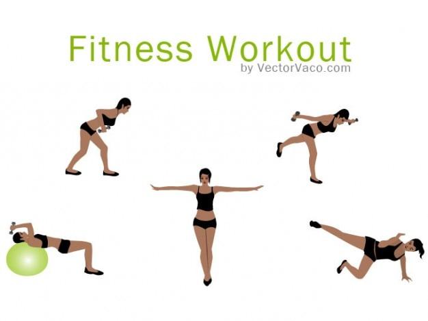 Ćwiczenia Fitness Center Darmowych Wektorów