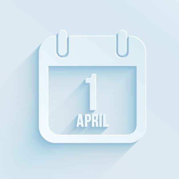 1-te Kalendarza Kwietniu Darmowych Wektorów