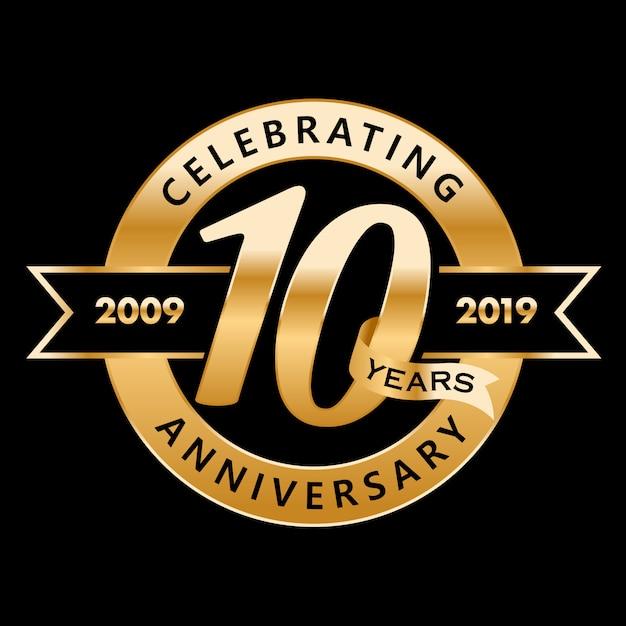 10. rocznica Premium Wektorów
