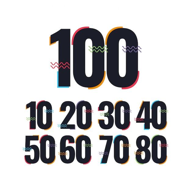 100 Lat Rocznica Szablon Projektu Ilustracja Logo Ikona Premium Wektorów